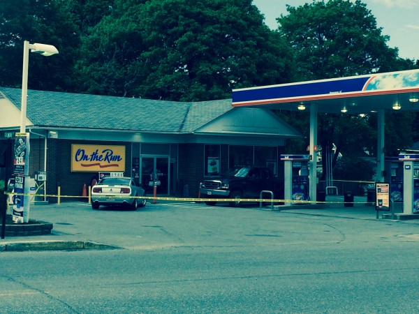 The Gulf convenience store at 396 North Main St. in Brewer was apparently robbed shortly after 4 p.m. Monday, May 26, 2014.