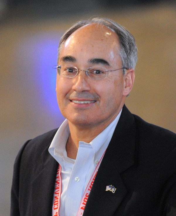 Former State Treasurer Bruce Poliquin of Oakland attends the Maine Republican Convention at the Cross Insurance Center in Bangor recently.