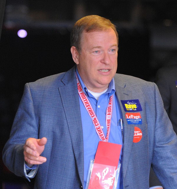 Former Maine Senate President Kevin Raye, R-Perry, participates in the Maine Republican Convention at the Cross Insurance Center in Bangor recently.