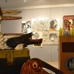 UMPI owl sculpture saved in time for homecoming