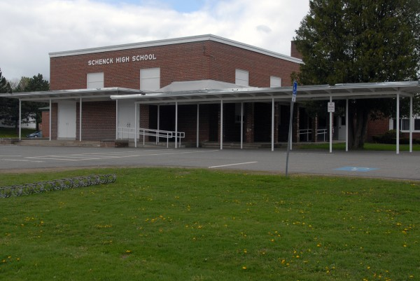 A May 2013 file photo of Schenck High School of East Millinocket.