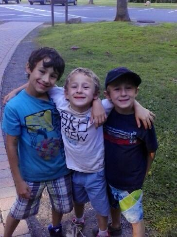 Three boys reported missing in Vernon, Connecticut, on Monday, (from left) Ryan, Dylan and Brandan Lewis, were found safe Tuesday in Bangor.