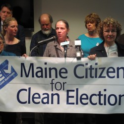 Does Maine's campaign contributions cap hurt independent candidates?