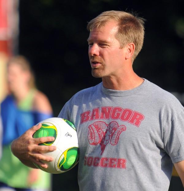 Joe Johnson, Bangor High School girls soccer coach