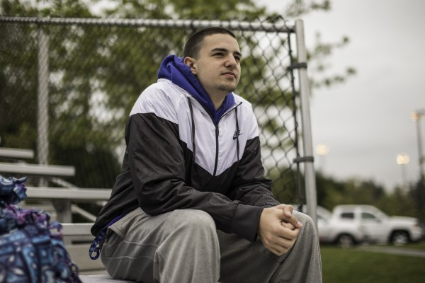 Kellen Webster is currently on the sidelines at Bothell High, bothered by a back injury, and a fear of reoccurring outbursts of his Tourette's at its worst.