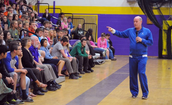 Steve Clifford is the head coach of the NBA's Charlotte Bobcats and a Maine native who spoke with the students at Bucksport High School on Thursday about being successful coming from a small town.