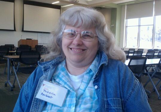 Priscilla Kerbrat, who lives in a Volunteers of America homeless shelter for veterans in Saco, has recently completed coursework to become a certified nurse's aide with the help of VOA and other organizations.