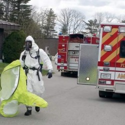 Chemical spill closes access road in Falmouth