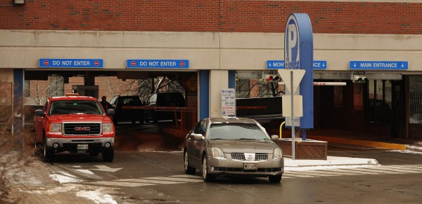 A car leaves the public parking garage at Pickering Square in Bangor in this December 2013 file photo.