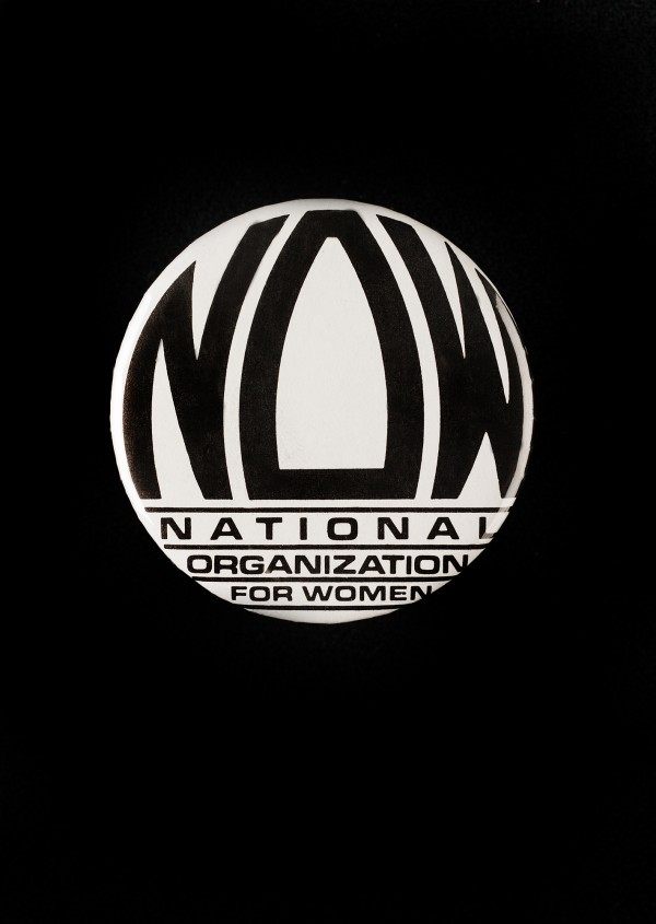 The National Organization for Women was founded in Washington in 1966, though the logo on this button wasn''t introduced until 1969.