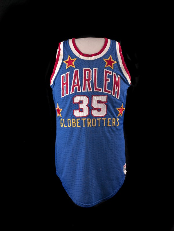 "This jersey belonged to Hubert ""&quotGeese""&quot Ausbie, who played for the Harlem Globetrotter from 1961 to 1985."