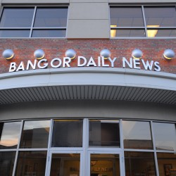 The Bangor Daily News building on the corner of Buck and Main streets in Bangor.