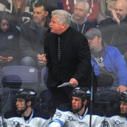 Former UMaine hockey star Jim Montgomery leads Denver to NCAA Tournament