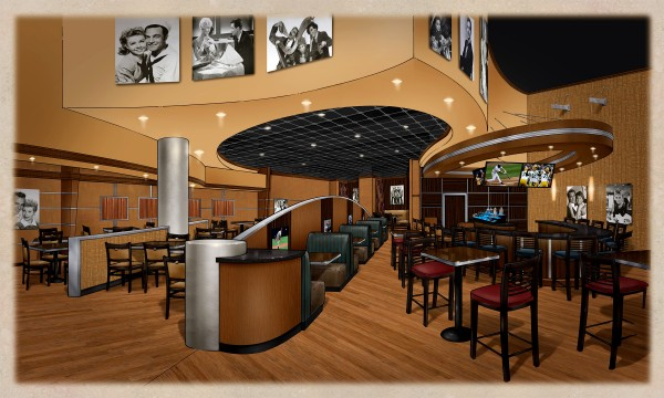 Artist rendering of what Hollywood Casino's Celebrity Bar & Grill might look like when it opens in July at the Bangor gaming venue.