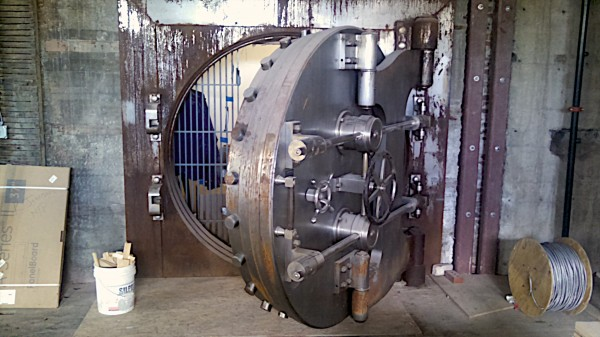 The old vault inside the Merchants Bank Building on Broad Street in downtown Bangor.