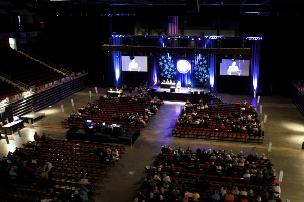 The Maine Democratic Convention kicked off at the Cross Insurance Center in Bangor Friday afternoon.