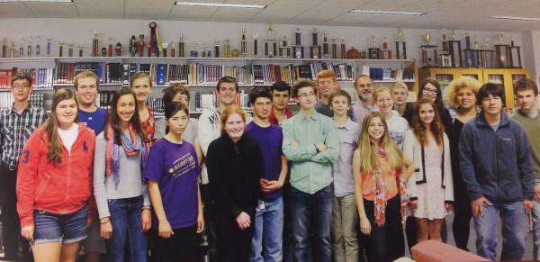 Bangor High School debate team, 2013-14.