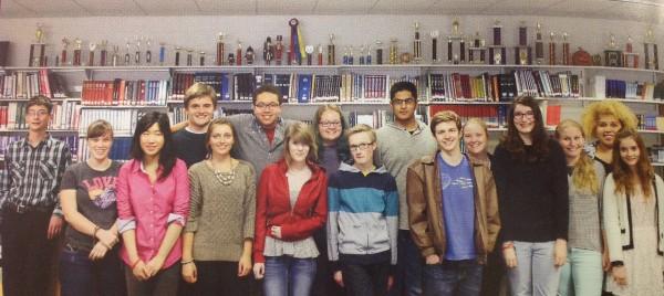Bangor High School speech team, 2013-14.