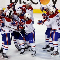 Bruins tie series with 5-3 win over Canadiens