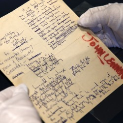 Bob Dylan manuscripts top items in NY rock and roll auction