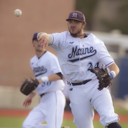 UMaine's confidence surging after record-setting sweep of UMBC