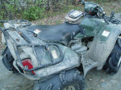 - This is the ATV that Andrew Callini, 53, of Haverhill, Massachusetts, was riding Friday when he lost control while trying to negotiate a curve and was thrown from the machine. Callini was pronounced dead at the accident scene, according to Lt. Tom Ward of the Maine Warden Service.
