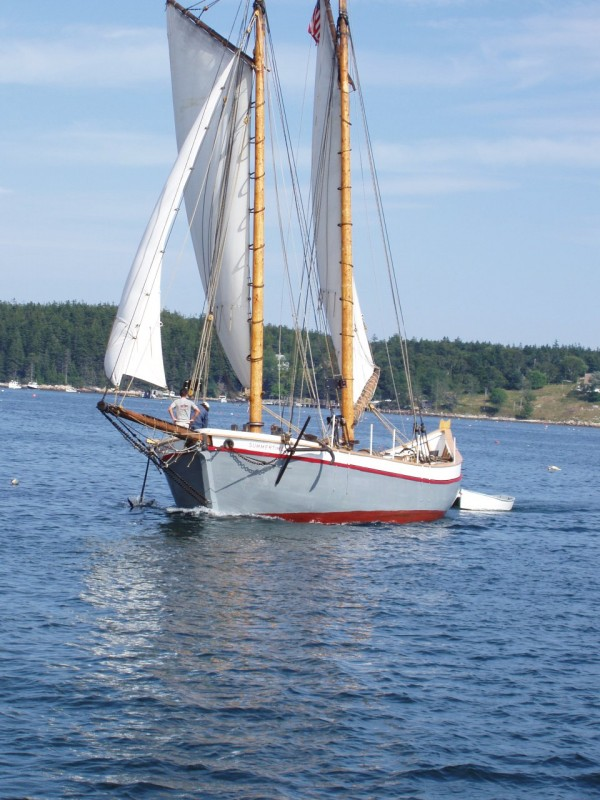 The traditional Maine pinky schooner Summertime will offer daily sails from Lincolnville Beach this summer.