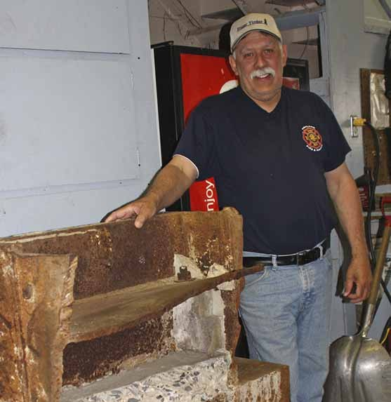 A piece of steel and concrete from one of the twin towers has been acquired by the Ashland Fire Department with the purpose of creating a  memorial honoring those who lost their lives as a result of the terrorist attacks of Sept. 11, 2001. Ashland Fire Chief Don Bouley hopes to use the 3,600-pound piece to create a memorial on municipal property adjacent to the firehouse.