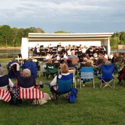 The Bangor Band performs on the Bangor Waterfront