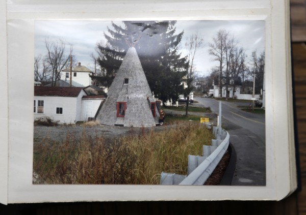 A 1988 snapshot shows what the teepee looked like after it had fallen into disrepair. Charles Shay spent almost a decade on the renovation project that made it into a &quotfamily museum.&quot