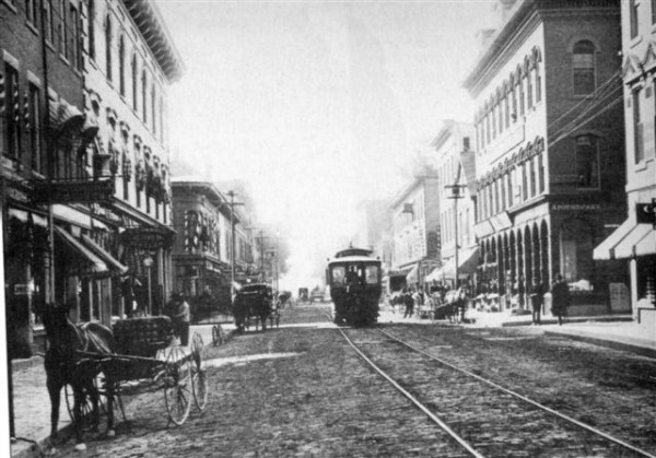Rockland Main Street in 1895