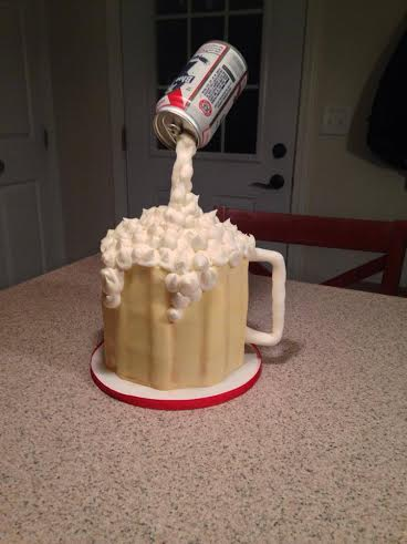Cake maker Amy Hart of Sweethart Cakes in Holden created this beer mug cake for her dad.