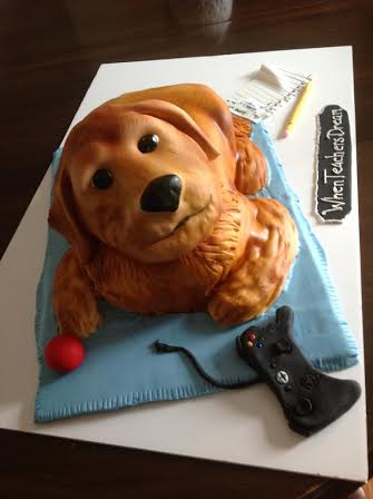 A Golden Retriever Cake is one of the many custom-made animal-shaped confections cake maker Amy Hart of Sweethart Cakes in Holden has made for clients.