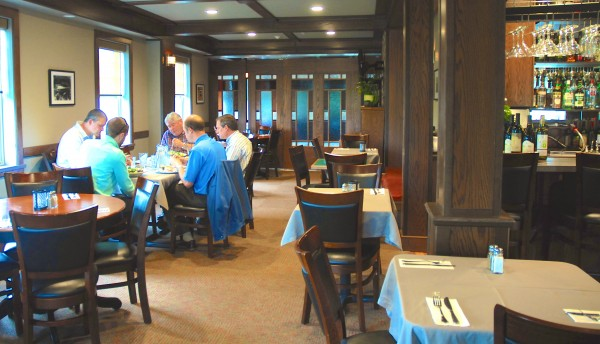 Diners enjoy lunch at the Inn of Acadia's Voyageur Lounge where traditional Acadian food is given an upbeat and gourmet twist.