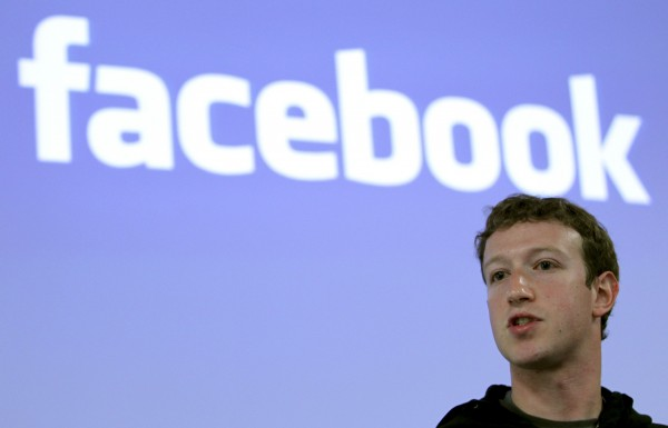 Facebook CEO Mark Zuckerberg speaks during a news conference at Facebook headquarters in Palo Alto, California in this May 26, 2010 file photo.