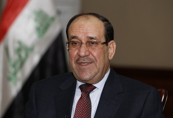 Iraq's Prime Minister Nouri al-Maliki speaks during an interview with Reuters in Baghdad in January.