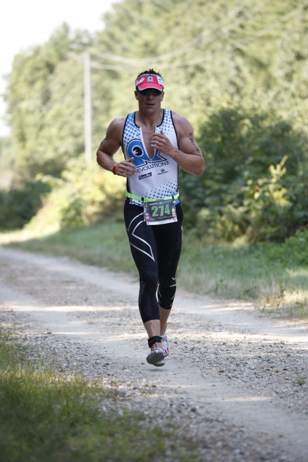 Philip Henry of Bangor competes in the Run at the Rev3 Half-Ironman in Old Orchard Beach. Henry is training for Ironman Lake Tahoe, which will be held Sunday, Sept. 21.