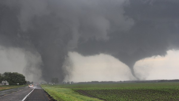 Two tornadoes touch down near Pilger, Nebraska June 16, 2014. Large tornadoes hit rural areas of northeastern Nebraska on Monday afternoon, with reports of property damage, according to forecasters and the Weather Channel.