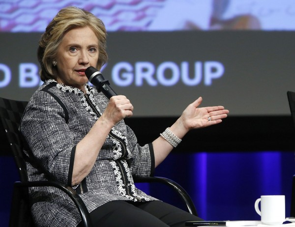 Former U.S. Secretary of State Hillary Clinton participates in an event on empowering woman and girls, at the World Bank in Washington in this May 14, 2014 file photo.