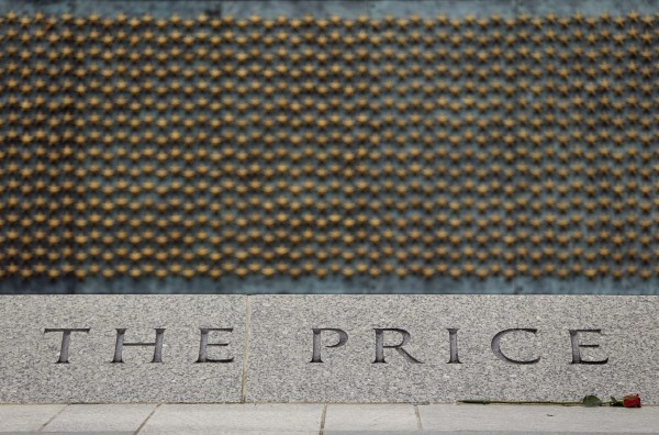 A portion of the 4,048 gold stars of the Price of Freedom wall is seen at the National World War II Memorial in Washington June 5, 2014. June 6 marks the 70th anniversary of the DDay invasion in 1944.