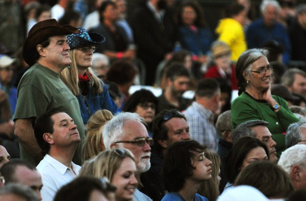 Concertgoers enjoy the sounds of Alison Krauss and Union Station featuring Jerry Douglas on Thursday at Darling's Waterfront Pavilion in Bangor.