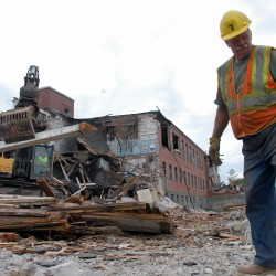 Hope replaces history in Howland: Company starts razing tannery building