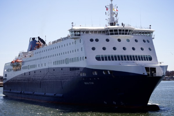 The Nova Star approaches the Ocean Gateway Terminal in Portland for the first time in this April 2014 file photo.