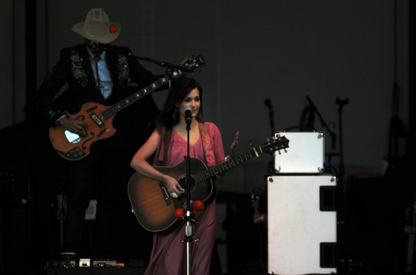 Kacey Musgraves preforms during the Willie Nelson, Alison Krauss and Kacey Musgraves concert Thursday at Darling's Waterfront Pavilion in Bangor.