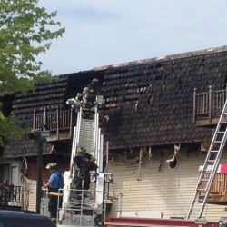 Fire rips through Bangor apartment complex, displaces 10 families