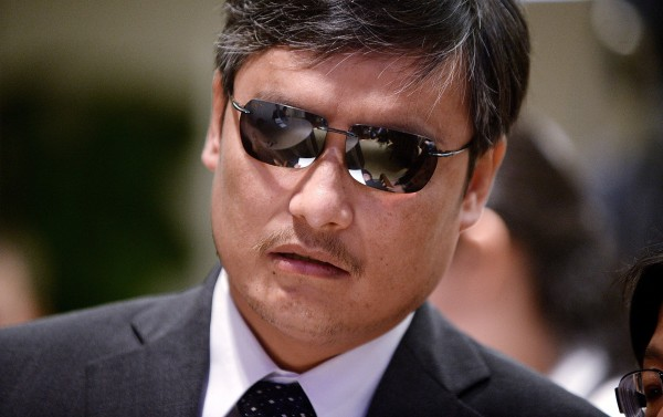 Chinese dissident Chen Guangcheng attends a discussion on Tiananmen Square on the 25th anniversary at the American Enterprise Institute on Tuesday, June 3, 2014, in Washington, D.C.