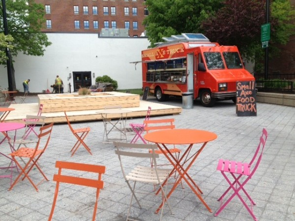 The Small Axe food truck, new chairs, public art and free public Wi-Fi are new additions to Portland's Congress Square Park, thanks to the efforts of residents attempting to protect the public space from a sale to a developer.