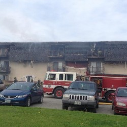 Fire damages Hampden condo under construction