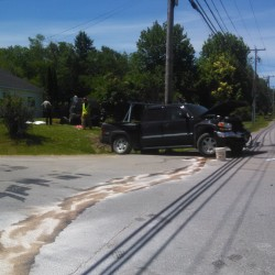 Hermon head-on collision shuts down Route 2; Bradley man taken to hospital