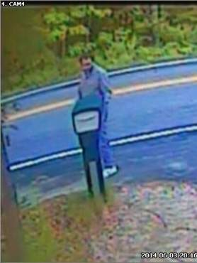 Kennebunk police released this photo of the man they are looking for who they believe left handwritten notes in two mailboxes along Ross Road.